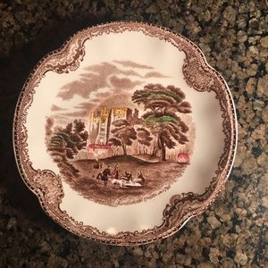 China plate made in England. Britain Castle